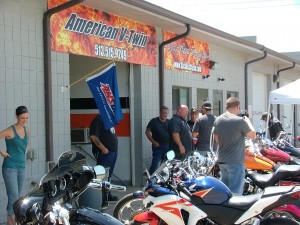 Riders Having a Look at the Custom Motorcycles
